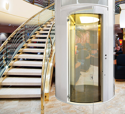 Giotto line luxury home elevator by xpress lifts for Luxury homes with elevators