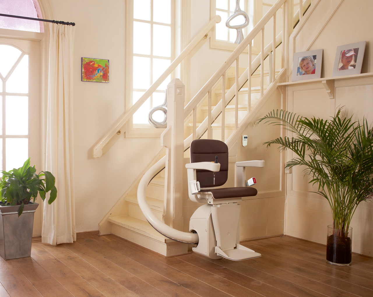 Single Rail Curved Stair Lifts
